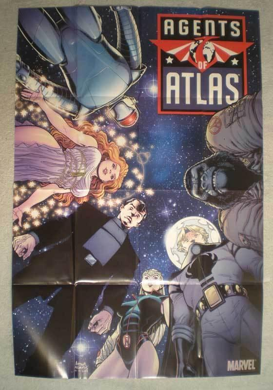 AGENTS OF ATLAS Promo Poster, Arthur Adams, 2008, Unused, more in our store
