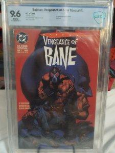 Batman: Vengeance of Bane Special #1 - CBCS 9.6 - White - NM+ 1st App. of Bane