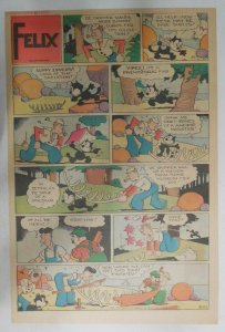 Felix The Cat Sunday Page by Otto Mesmer from 9/22/1940 Size: 11 x 15 inches