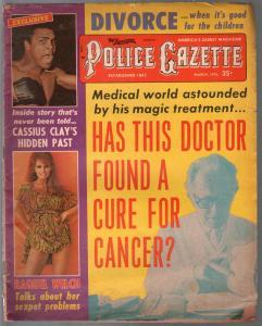 Police Gazette #6 3/1973-Cassius Clay-Raquel Welch-exploitation-G/VG