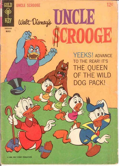 UNCLE SCROOGE 62 GOOD  March 1966 COMICS BOOK
