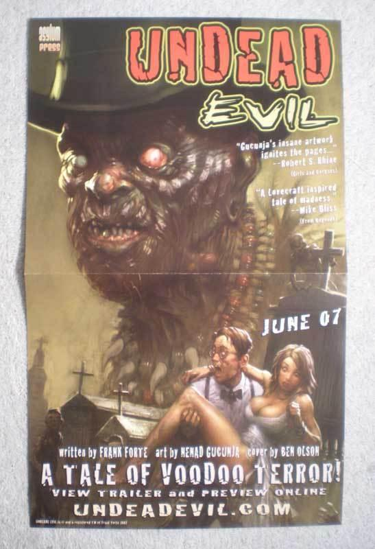 UNDEAD EVIL Promo Poster, VOODOO, 8.5x14, 2007, Unused, more Promos in store