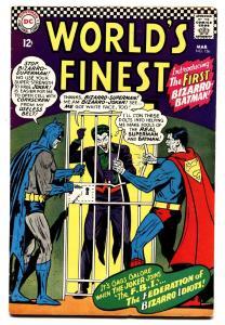 WORLDS FINEST #156 comic book 1965-BIZARRO BATMAN-JOKER cover