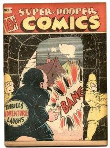 Super-Dooper Comics #7 1946-SHOCK GIBSON- Hitler- F/VF
