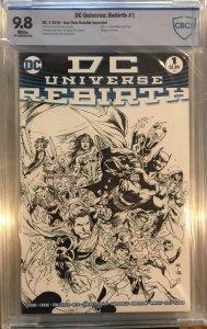 DC Universe Rebirth #1 Black And White Ivan Reis Retailer Incentive CBCS 9.8