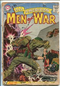 ALL-AMERICAN MEN OF WAR #53-1958-WWII-DC-SILVER AGE-KUBERT TANK COVER-pr/fr
