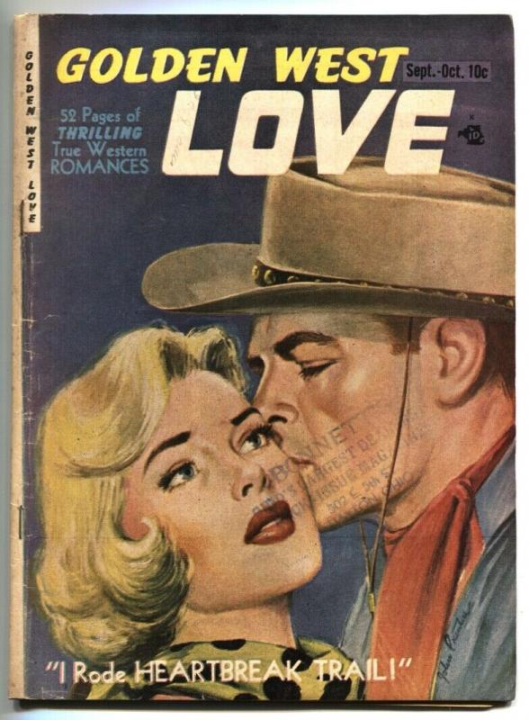 Golden West Love #1  BOB POWELL Spicy Lingerie Panels 1949 VG+