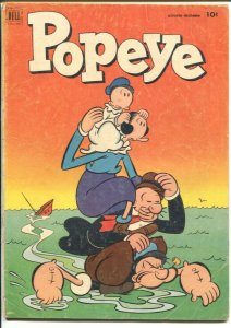Popeye #22 1952-Dell-Swee'Pea story-G+