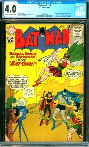 Batman #139 CGC Graded 4.0 1st appearance of the original Bat-Girl (Betty Kan...