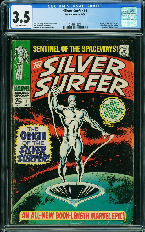The Silver Surfer #1 (CGC 3.5) CLASSIC Debut Issue! Silver Age MARVEL