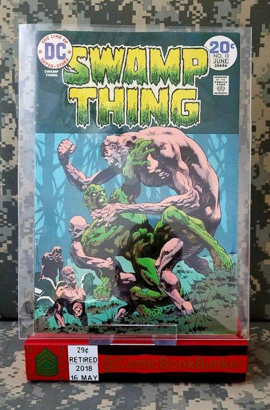 Swamp Thing #10 VF Bernie Wrightson Len Wein Last Berni KEY Vintage Horror Comic