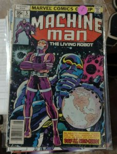 machine man #5 1978 marvel  the living robot low grade  jack kirby