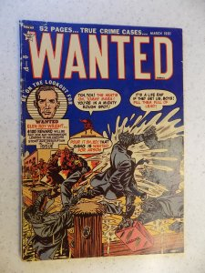 WANTED # 35 GOLDEN AGE CRIME ACTION ADVENTURE 1951