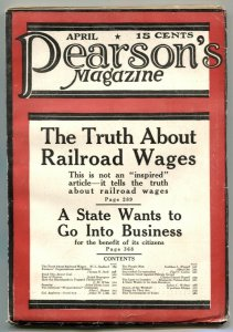 Pearson's Magazine April 1916- Railroad Wages VF