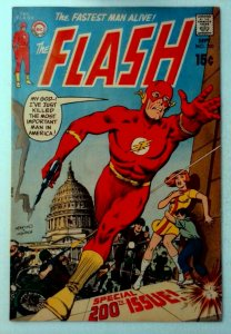 Flash #200 DC 1970 VF- Bronze Age Key Issue Anniversary of The Flash Comic Book