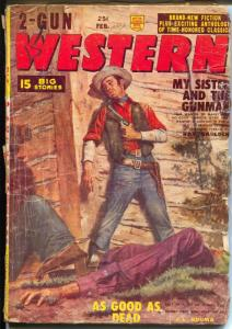 2-Gun Western 2/1956-Red Circle-one of the last pulp mag by Marvel Comics-G