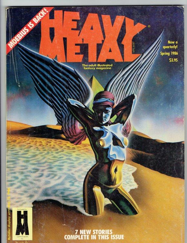 Heavy Metal Magazine Spring 1986 Moebius Esteban Maroto Solano Lopez