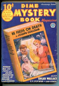 DIME MYSTERY BOOK #2 1933-POPULAR PUB.-PULP-MEDICAL HORROR-WEIRD MENACE-vg
