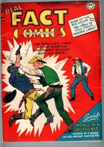 REAL FACT COMICS #12-G-MEN-WESTERN-DC-GOLDEN AGE VG