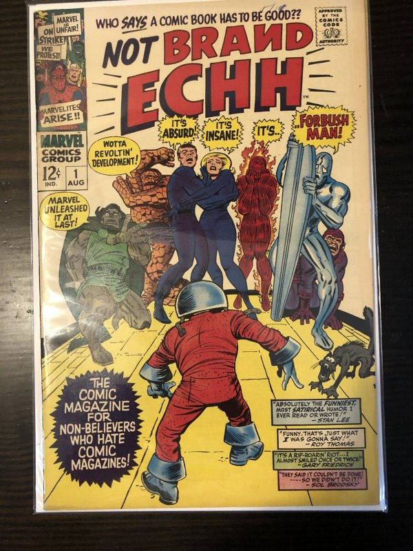 NOT BRAND ECHH #1 1967 GD CONDITION MARVEL