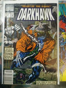 darkhawk # 12 1991 marvel   tombstone amulet heart of the hawk pt 3 savage steel