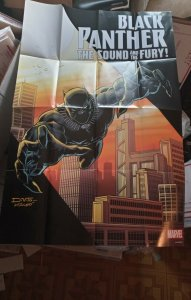 2018 Marvel Comics promo poster 24x36  BLACK PANTHER The Sound And The Fury NEW
