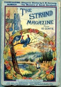 Strand Magazine Pulp November 1904- Sarah Bernhardt- Thanksgiving cover VG