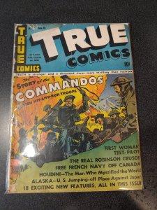 TRUE COMICS #13  GOLDEN AGE CLASSIC VG-