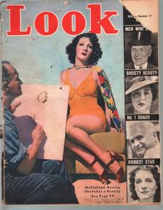 Look 10/13/1937-McClelland Barclay pin-up feature-LaGuardia-hanging-FR