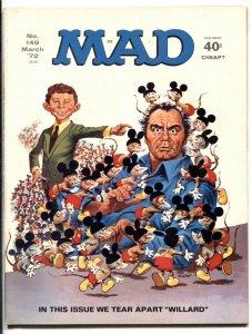 Mad-Magazine #149 1972--Willard parody cover- Borgnine F/VF