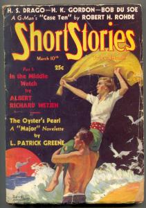 Short Stories Pulp March 10 1936- Oyster's Pearl- In the Middle Watch