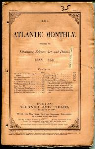 Atlantic Monthly 5/1868-pulp format-unique-rare-145 years old-VG