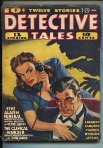 DETECTIVE TALES 08/1941-POPULAR PUBS-HARD BOILED-CRIME-PULP-KEENE-good