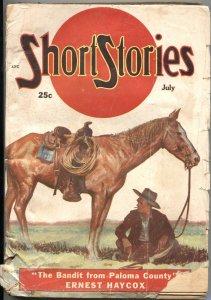 SHORT STORIES-JULY 1952-EVERETT RAYMOND KINSTLER INTERIOR PULP ART
