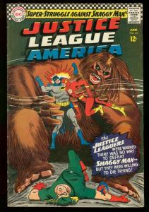 JUSTICE LEAGUE OF AMERICA #45 1966 DC BATMAN SUPERMAN FN-