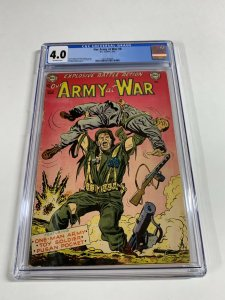 Our Army At War 8 Cgc 4.0 Ow Pages Dc Comics Golden Age War