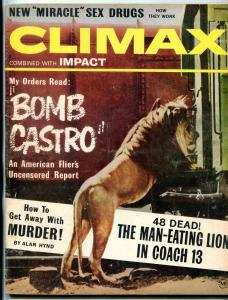 Climax Magazine December 1963- BOMB CASTRO- DW Griffith- Mens Adventure