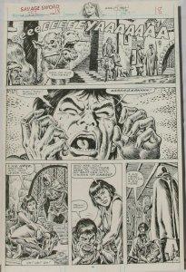 ERNIE CHAN Published Original Art SAVAGE SWORD of CONAN #152,pg 18, Signed w/art