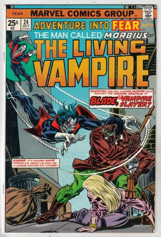 Adventures Into Fear #24 (Oct-74) NM- High-Grade Morbius the Living Vampire