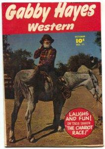 Gabby Hayes Western #11 1949-Photo cover-Fawcett comic F/VF