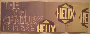 HELIX Promo poster, 34x11, 1996, Unused, more Promos in store
