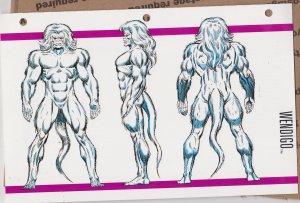Official Handbook of the Marvel Universe Sheet - Wendigo