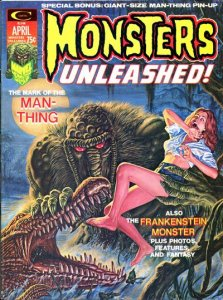 Monsters Unleashed #5 Man-Thing Appearance (ungraded) stock photo