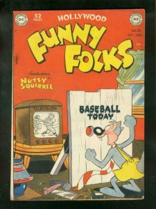 FUNNY FOLKS #22 1949-BASEBALL COVER-NUTSY SQUIRREL FN-