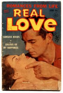 Real Love #55 1953 G-Ace-photo cover-spicy romance-They Called Me a Tease