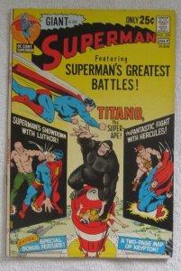 Superman #239 (Jun-Jul 1971, DC) Giant Curt Swan pencils High Grade VF+ 8.5