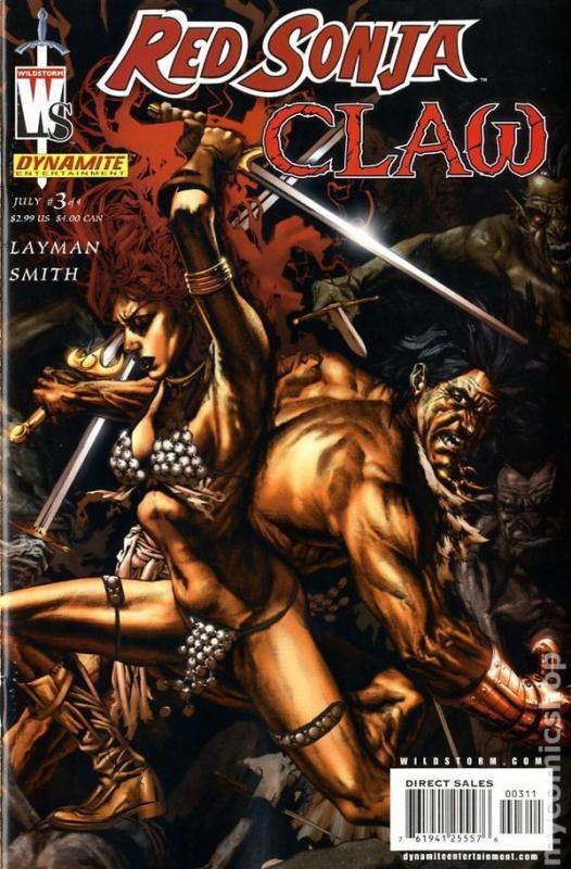 Red Sonja/Claw: Devil Hands #3 (Dynamite, 2006)