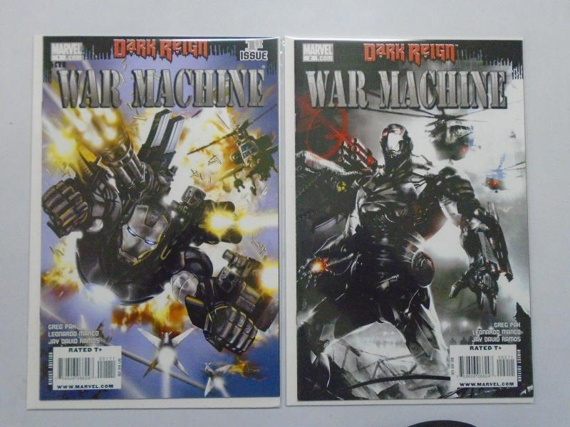 War Machine (2008- 2nd Series) #1-2 Set - 8.0 VF - 2008