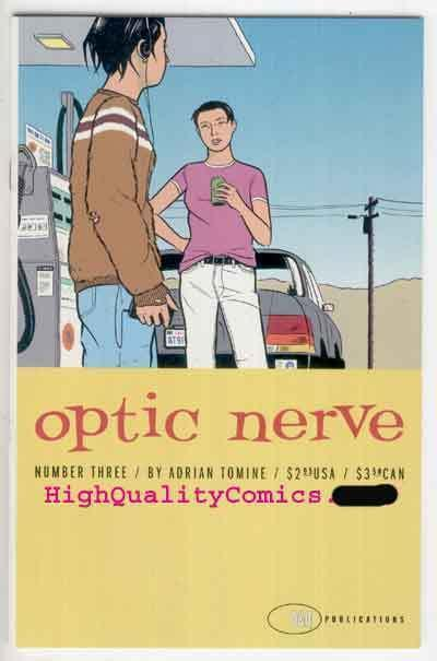 OPTIC NERVE #3, NM+, Adrian Tomine, 1996, Independent, HTF, more in store