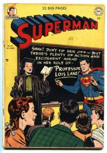 SUPERMAN #64 1950-Prankster-Golden-Age DC-G